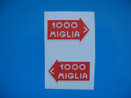 MILLE MIGLIA classic car stickers x2